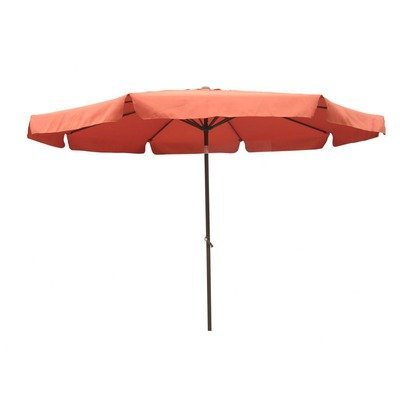 n 9 Foot Aluminum Patio Umbrella with Tilt and Crank (Terra Cotta) ()
