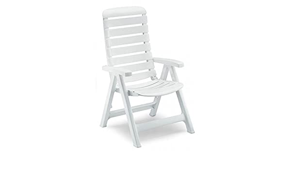 Sillón de resina blanco, sillones plegables de jardín ...