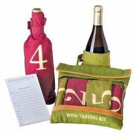 UPC 028588045022, The Wine Tasting Kit Incl Six Individually Numbered Cloth Bags & Pad Of Scoring Notes