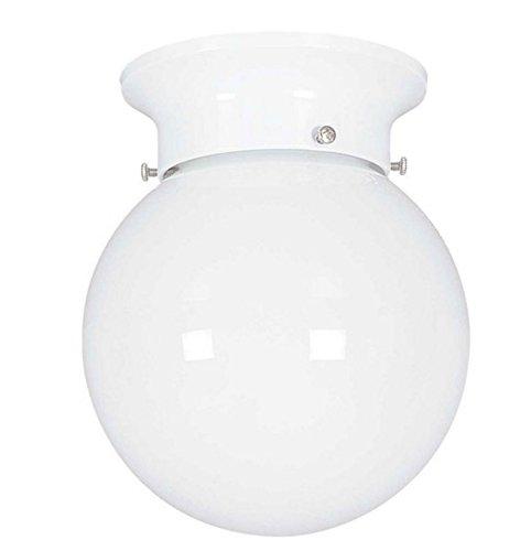 Contemporary Schoolhouse Globe Glass - Light Blue™ LED Flush Globe Ceiling Fixture, 6