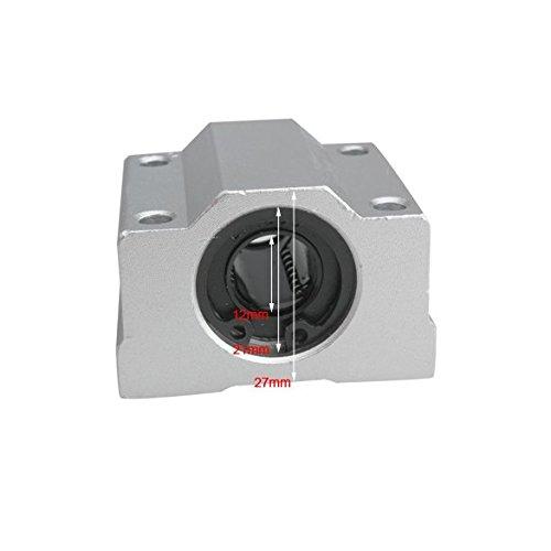 Pack of 4pcs 12 mm SC12UU SCS12UU Linear Ball Bearing Slider Slide Bushing Replacement CNC