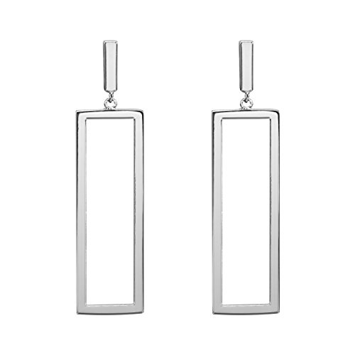 LILIE&WHITE Women Oblong Metal Geometric Rectangle shape Drop Dangle Earrings Imitation - Oblong Shapes