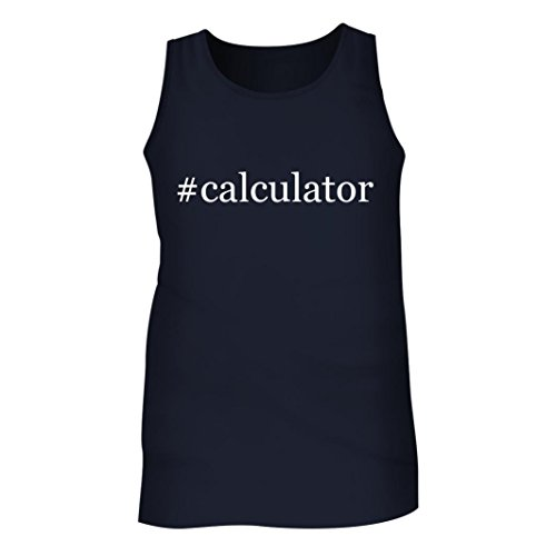 #Calculator - Men's Hashtag Adult Tank Top, Navy, Large