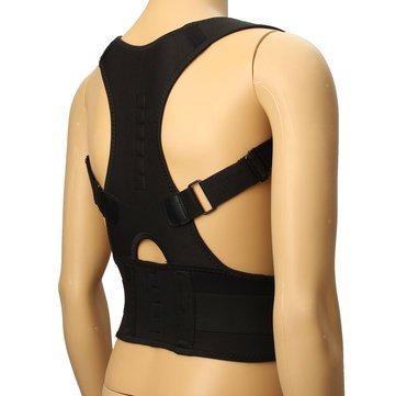 Posture Corrector - back posture corrector - posture corrector for men - Back Corrector - Fully Adjustable Hunchbacked Posture Corrector Lumbar Back Magnets Support Brace Shoulder Band Belt (XL) by Generic (Image #4)