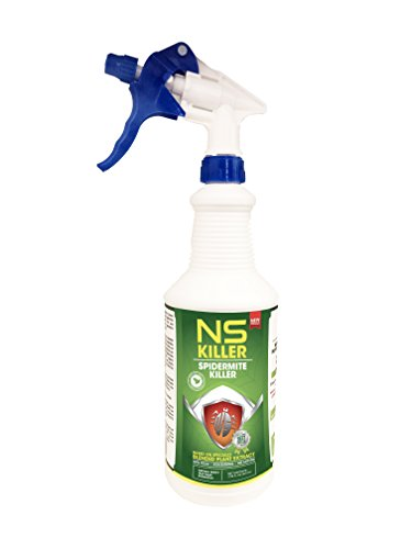 (Organic Spider Mite Killer Kills Adult and Eggs and its Safe for Plants Controls powdery Mildew,Blackfly, Whitefly, Thunder Fly 32 Oz Spray)
