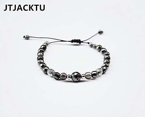 (Smoky Beads Onyx Wrap Bracelet | for Men and Woman (Pyrite))
