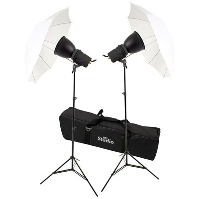 RPS Studio Photoflood Umbrella 1000 Watt Photography Lighting Kit (Studio Lighting Photoflood Kit)