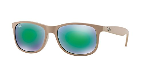 0570a2c323 Ray-Ban ANDY - SHINY BEIGE ON MATTE TOP Frame GREEN MIRROR GREEN Lenses  55mm Non-Polarized - Buy Online in UAE.