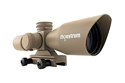 Monstrum Tactical 3-9x40 Rifle Scope with Illuminated Mil-dot Reticle