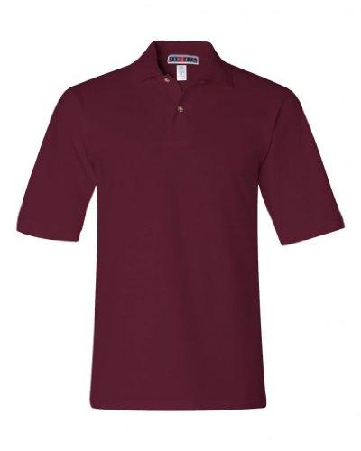 jerzees-mens-100-ringspun-cotton-pique-knit-sport-shirt-maroon-medium