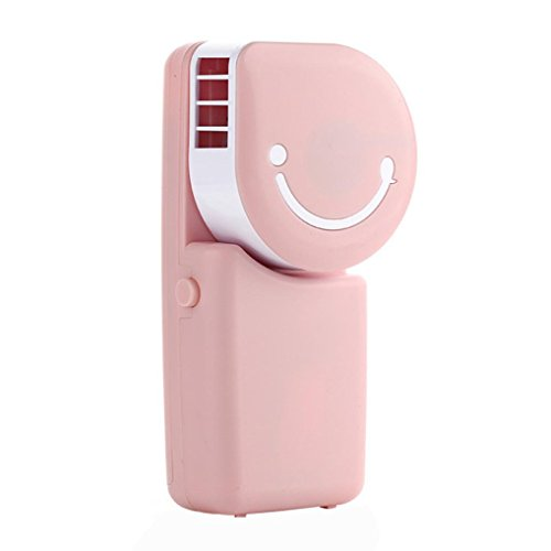 No Light Bulb Fan Heater (YJYdada USB Rechargeable Portable Mini Handheld Air Conditioning Cooling Fan (pink))
