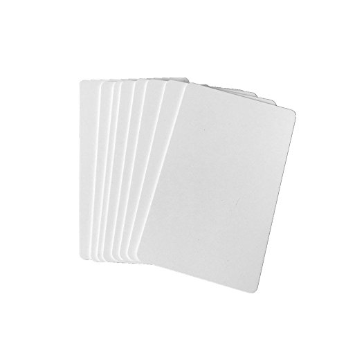 Premium Blank PVC Cards for ID Badge Printers Graphic Quality White Plastic CR80 30 Mil for Zebra Fargo,Magicard Printers (20pcs) ()