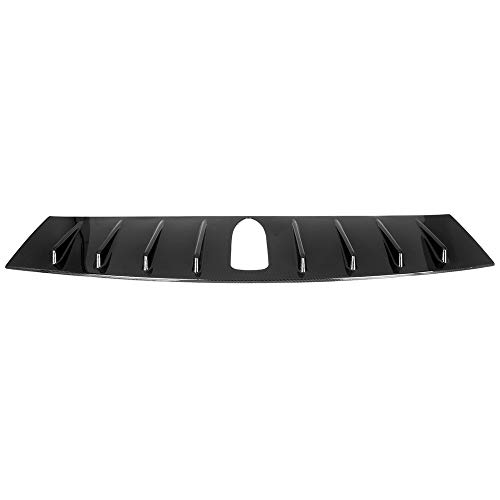 (ECCPP Carbon Fiber Rear Roof 8 Shark Fin Spoiler Wing Glossy Replacement fit for 2015-2018 Subaru WRX 2015-2017 Subaru WRX STI)