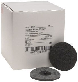 Scotch-Brite 07514 Roloc Surface Conditioning Disc TR 07514, 3 in x NH S SFN, Gray