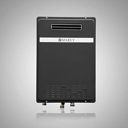 Natural Gas Unit Heaters - Marey GA26ONG Natural Gas Tankless Water Heater, Outdoor Unit, 180.000 Btu, Medium, Black