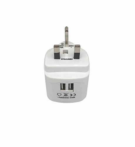 Sycon All-in-One International Travel Plug Adapter with Dual USB Ports (UP-9KU) - Great for iPhone/Smartphones/Laptops & More (US/EU/UK/AU Adapter/W USB) by Sycon (Image #5)