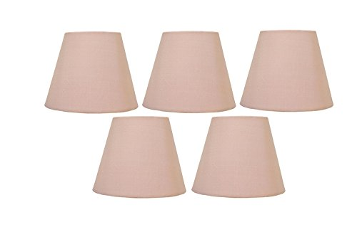 Upgradelights Soft Pink Silk 6 Inch European Drum Style Clip On Chandelier Shades 3x6x4.5 (Set of (Soft Pink Shade)