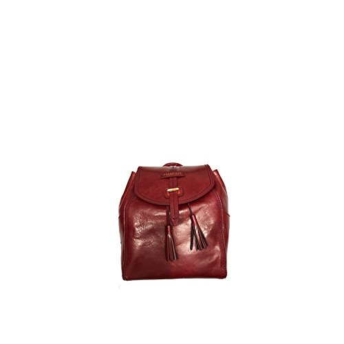 Florentin The cuir 34 à cm Currant Red Sac Bridge dos City Gold CSqw5SO4x