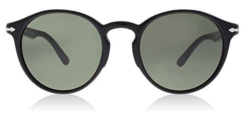 8d7793ba80 Persol PO3171S 95 31 Black PO3171S Round Sunglasses Lens Category 3 Size  49mm