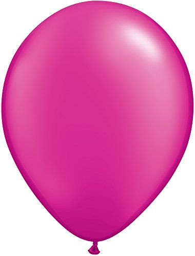 """Price comparison product image Pioneer Balloon Company 100 Count Latex Balloon, 11"""", Pearl Magenta"""