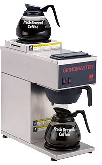 Grindmaster Cecilware CPO-2P-15A Portable Pour Over Coffee Brewer with 1 Top and 1 Bottom Warmers, Stainless Steel by Lee Global Imports and Consulting, Inc. (Image #1)