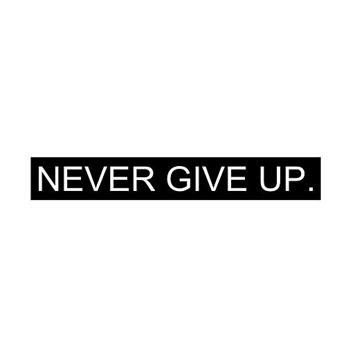 Never Give Up Wall Decal Vinyl Art Quotes for Inspirational Room Decor