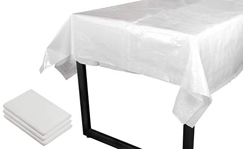 Disposable Tablecloth - 3-Pack 54 x 108-Inch Rectangular Tab