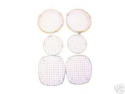 Jeep parts 1977-86 CJ, WIRE MESH Light Guards Stainless