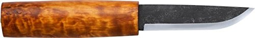 Norwegian Blade - Helle Saga Siglar Knife - Handcrafted Carbon Steel Knife with Birch Wood Handle and Genuine Leather Sheath