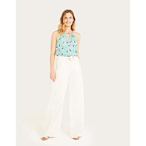 Calca Color Pantalona Com Cinto-Off White-38