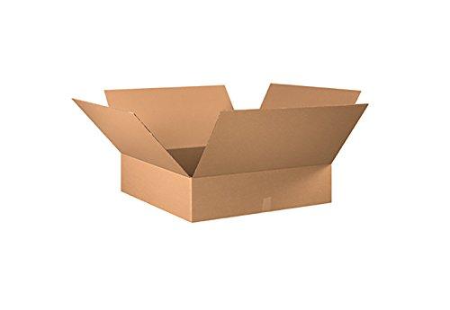 Cajas corrugadas RetailSource, 76,2 x 76,2 x 15,2 cm, color café, Marrón, paquete de 5