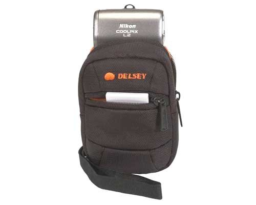 (Delsey ODC 3 Point and Shoot Camera Bag (Grey))