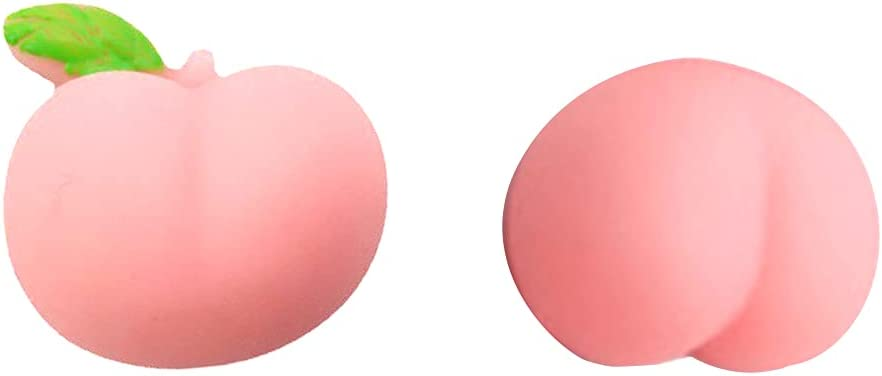 LOLOVI Idkska 10Pcs/Set Silicone Mini Peach Squishy Toy Cute Novelty Stress Anxiety Relief Decompression Squeeze Ball Charms DIY Phone Case Decoration Gifts