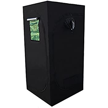 """CoolGrows 36""""x36""""x72"""" Mylar Hydroponic Grow Tent with Window for Indoor Plant Growing 3'x3'x6'"""
