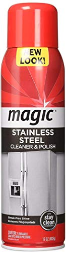 Weiman Magic Stainless Steel Cleaner Aerosol, 17 Ounce (2 Pack)