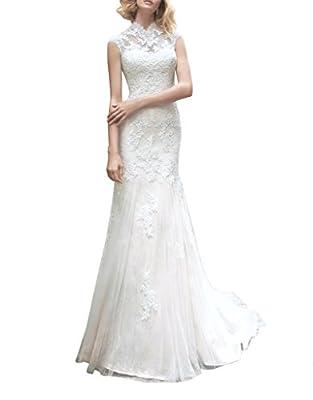 Kevins Bridal Mermaid Wedding Dresses 2017 Court Train Tulle Bridal Gowns Cap Sleeve
