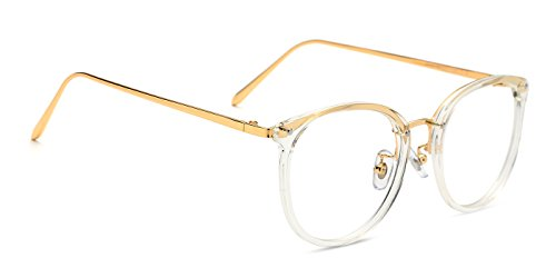 TIJN Vintage Optical Eyewear Non-prescription Eyeglasses Frame with Clear Lenses