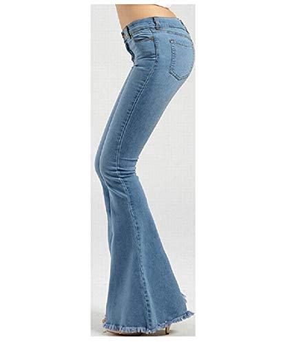 Large Jeans Bleu Bleu FuweiEncore Taille Haute Femme x0pZnqI1wn
