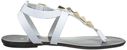 Pieces Pscathie - Sandalias de Vestir de cuero mujer Blanco - Blanc (Bright White)