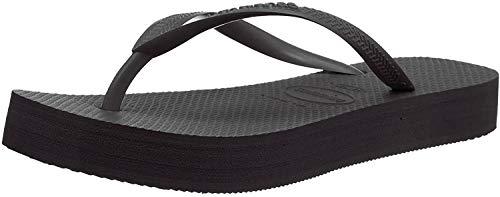Havaianas Women's Flip Flop Sandals, Black, 4.5 us