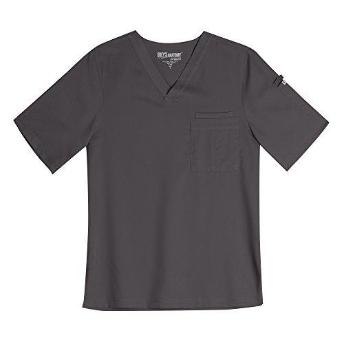 Xxx Guy (Grey's Anatomy Men's 3-Pocket V-Neck Solid Scrub Top XXX-Large Nickel)