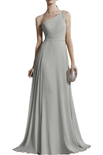 Silber Traeger Lang Abendkleider Minze Gruen EIN Braut Chiffon La mia Damen Brautjungfernkleider Promkleider 0f7PHwgfq