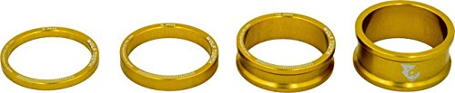 Wolf Tooth Components Headset Spacer Kit 3, 5, 10, 15mm, Gold