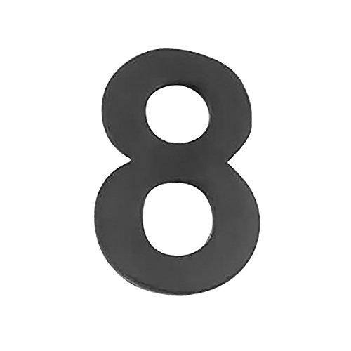 8' Solid Brass House Number - Black Solid Brass 2 1/4