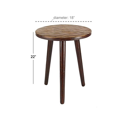 Studio 350 Wood Rd Accent Table 18 inches wide, 22 inches high by Studio 350 (Image #2)
