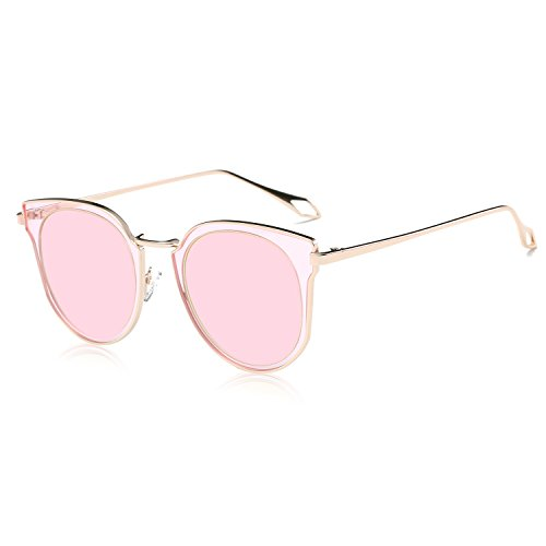 8bbd07ffea SOJOS Fashion Polarized Sunglasses for Women UV400 Mirrored Lens SJ1057  with Rose Gold Frame Pink Mirrored Lens. By SOJOS. Previous Next