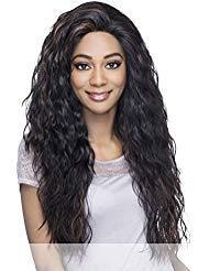 Handmade Wig - Vivica A Fox Hair Collection Brooklyn Deep Swiss Lace Front Handmade Wig, 1B, 12.9 Ounce