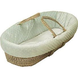 BabyDoll Heavenly Soft Moses Basket, Ecru by BabyDoll