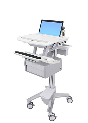 Ergotron SV43-11B0-0 StyleView - Cart for notebook / keyboard / mouse / bar code scanner ( open architecture ) - lockable - medical - aluminum, zinc-p