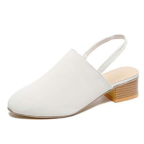 Unframed Insert Panel - Women Shoes Slingback Summer Sandals Leopard Casual Footwear Women Sandals Elegant Low Heels,White,9.5